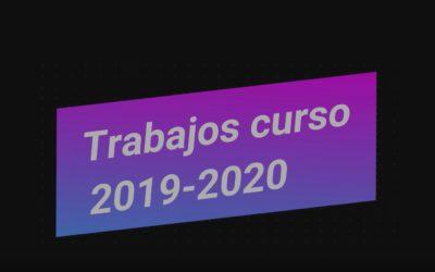 TRABAJOS CURSO 2019-2020