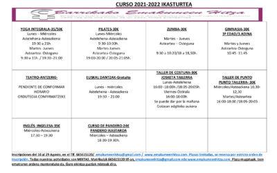 ACTIVIDADES CURSO 2021-2022