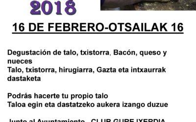 TALO EGUNA 2018